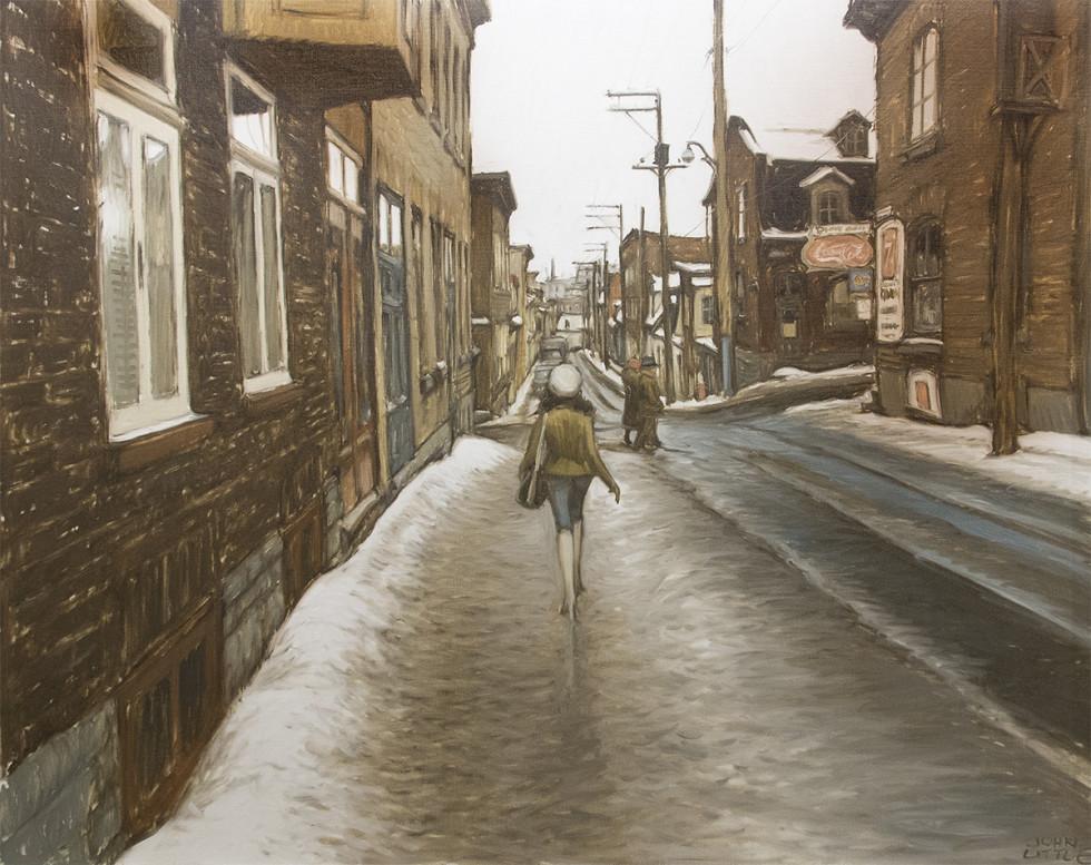 John Little, R.C.A., Une Journée de mars, Rue Latourelle, Qué, 1980