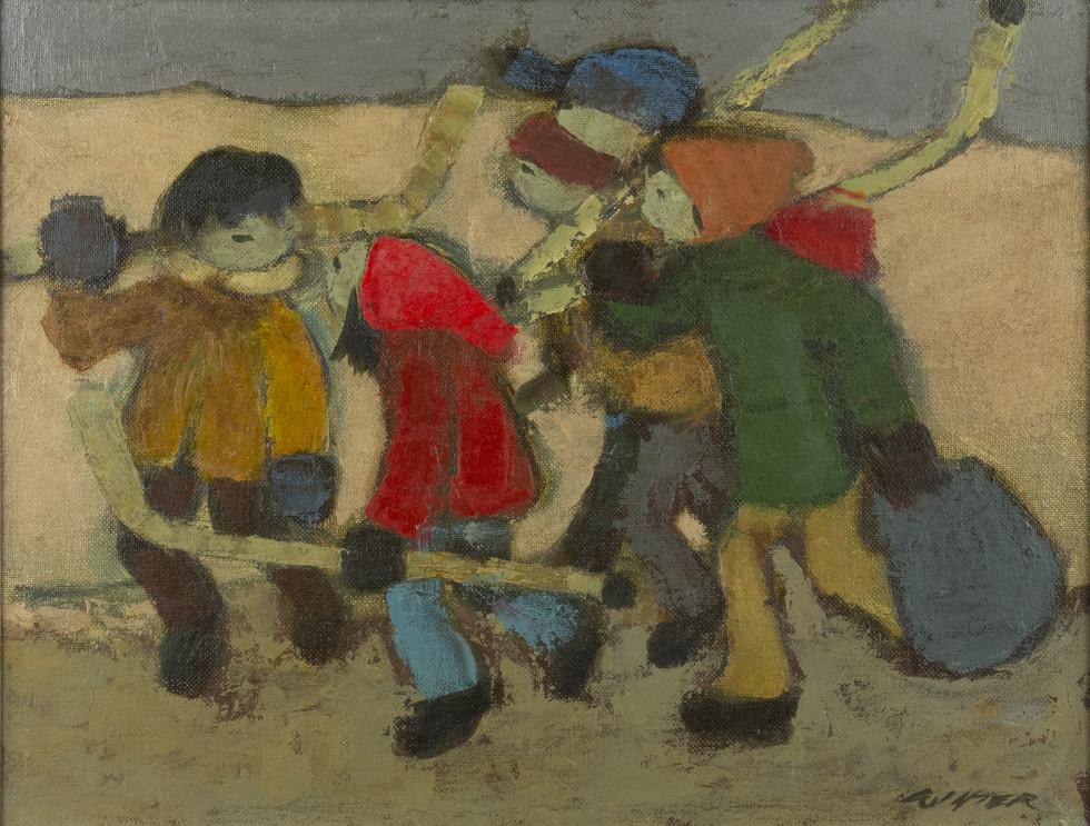 William Winter, O.S.A., R.C.A., Five Boys, 1980