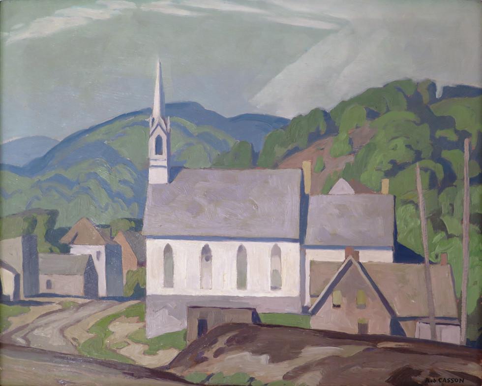 A.J. Casson, C.M., O.Ont., LL.D., R.C.A., The Village Church (at Barry's Bay), 1955 (circa)