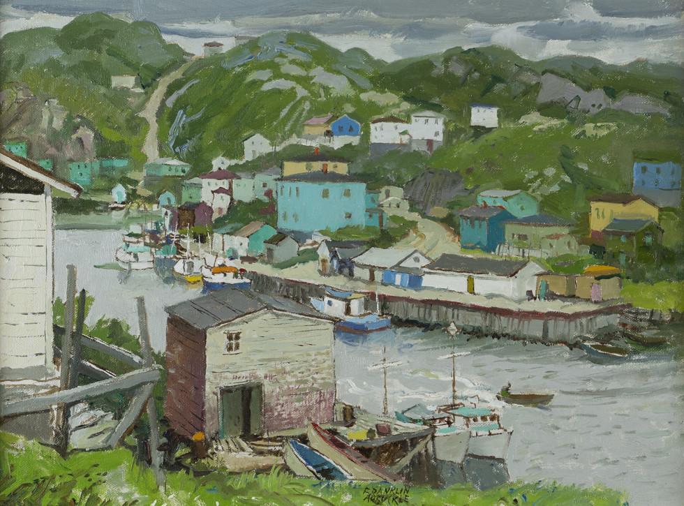 Franklin Arbuckle, R.C.A., Rose Blanche Harbour, Newfoundland