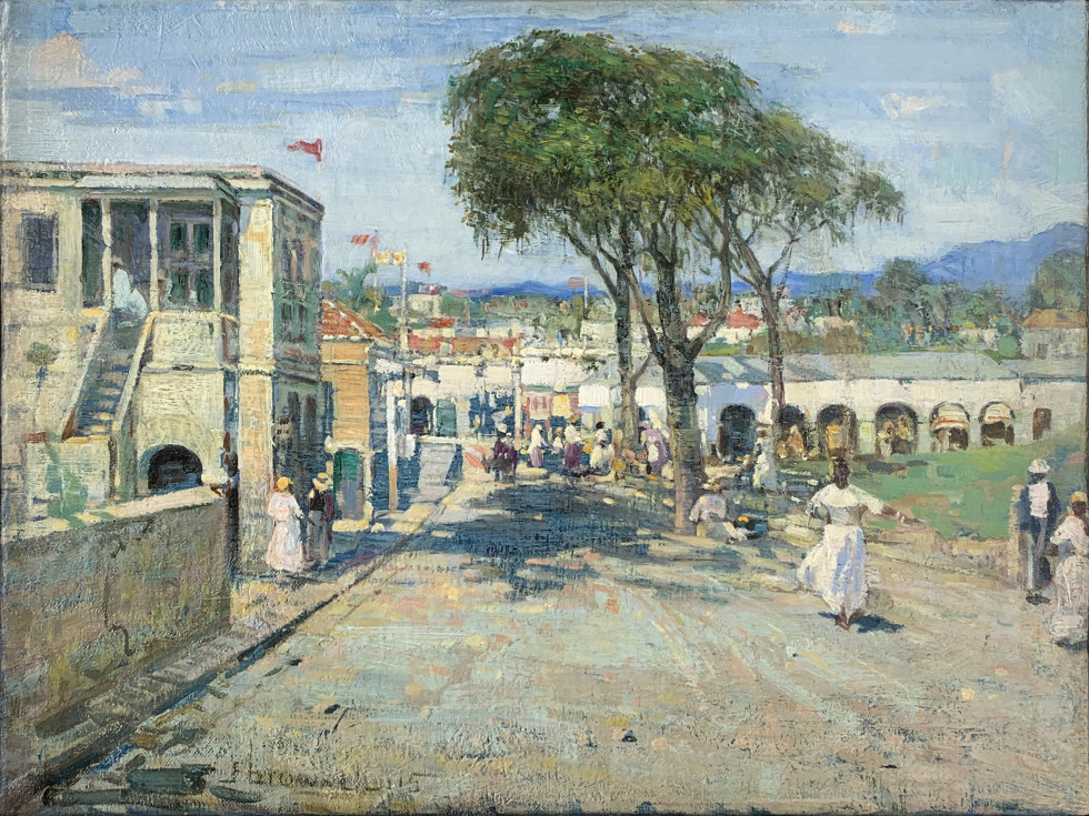 Franklin Brownell, R.C.A., Street Scene, West Indies, 1915