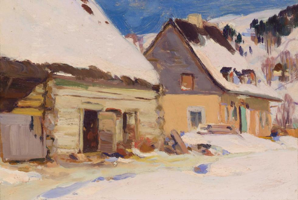 Clarence A. Gagnon, Ferme du rang Saint-Laurent, Baie Saint-Paul, 1924 (circa)