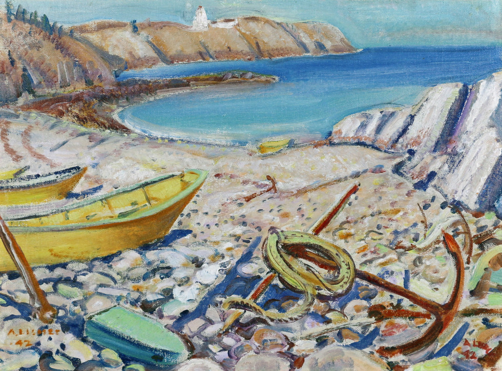 Arthur Lismer, Beach in New Brunswick, 1942