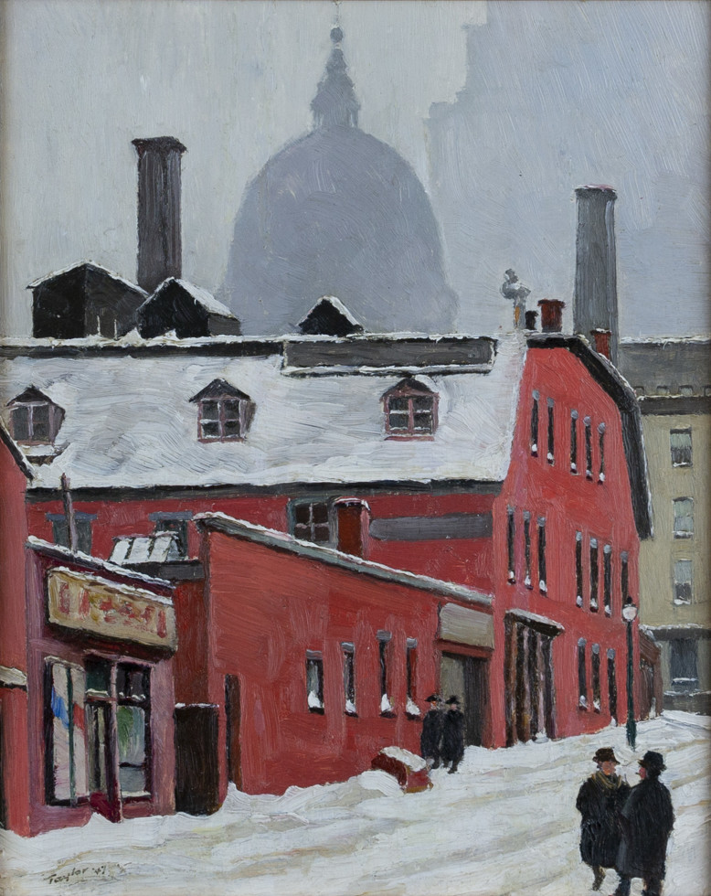 Frederick B. Taylor, R.C.A., Looking Up Inspector St. from St. James St. West, Montreal, 1947