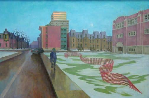 Philip Surrey, C.M., LL.D., R.C.A. (1910-1990)Winter Evening - Sor d'hiver, 1980 Oil on masonite 24 x 36