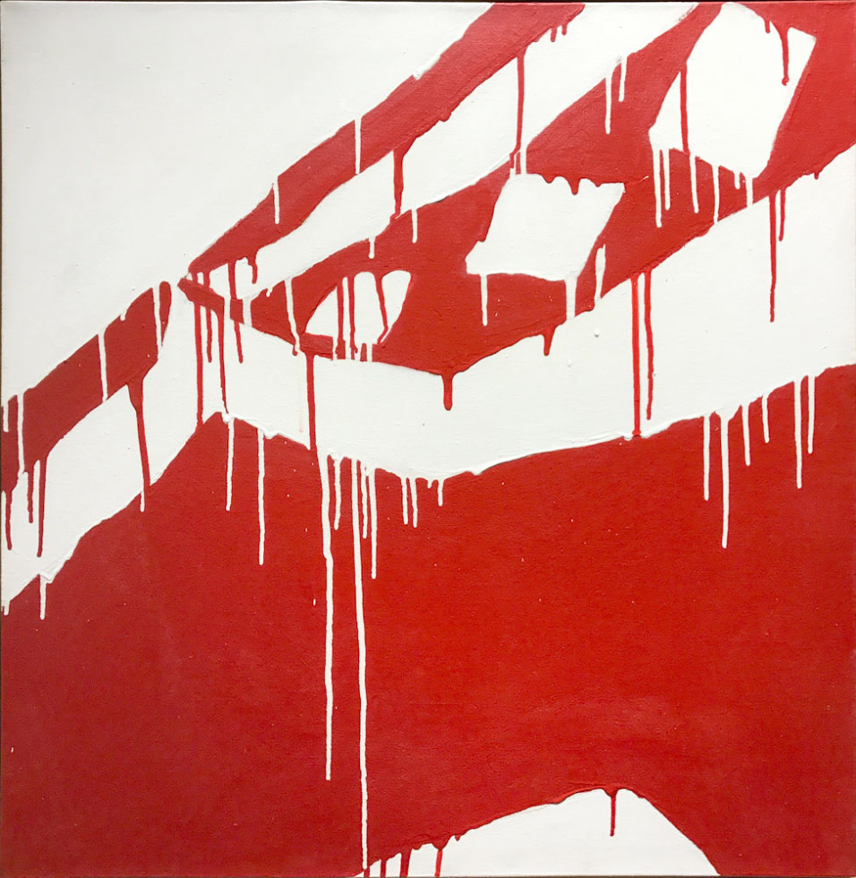Serge Lemoyne Vikulov, 1976 Signed, Dated Acrylic on canvas - Acrylique sur toile 31 x 31 Width: 31 Height: 31