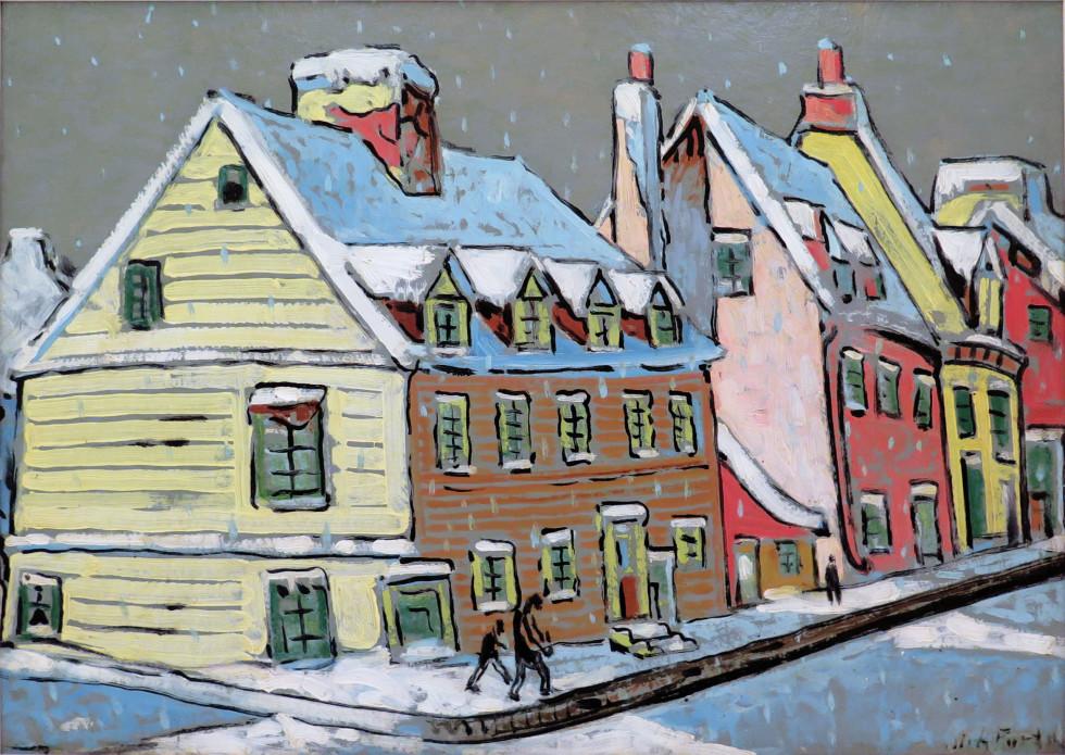 Marc-Aurèle Fortin, Paysage à Québec, 1936 (circa)
