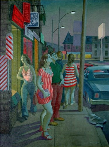 Philip Surrey, C.M., LL.D., R.C.A. 1910-1990End of Summer (Fairmount Street near Park Avenue) - Fin de l'été (Rue Fairmount près de l'avenue du Parc), 1974 Oil on canvas 32 x 24 in 81.3 x 61 cm