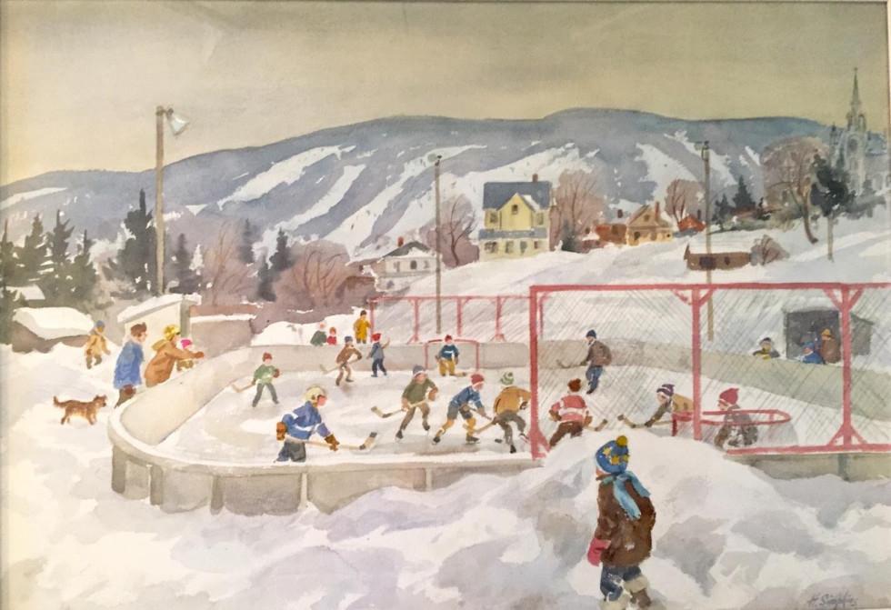 Henry J. Simpkins, R.C.A. 1906-1995Saint-Sauveur, 1980 Signed, Circa Watercolour - Aquarelle 21 1/2 x 29 1/2 Width: 29.5 Height: 21.5