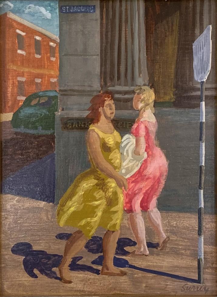 Philip Surrey, Women Walking, St. Jacques Street, Montreal