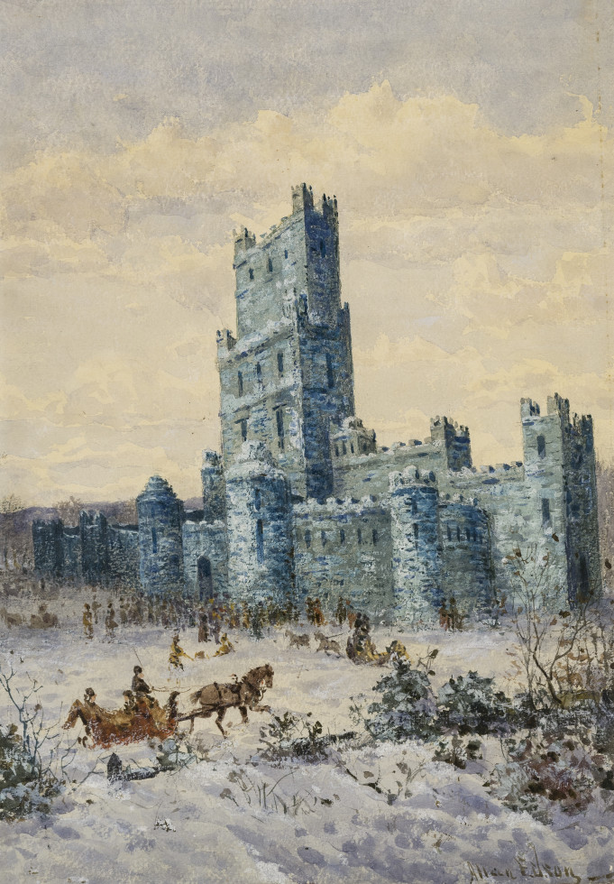Allan Edson, The Ice Palace, Montreal, 1885