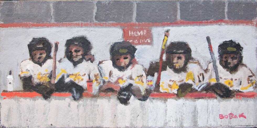 Bruno Bobak Fredericton Stars, York Arena, 2011 Oil on panel - Huile sur panneau 6 x 11 3/4 in 15.2 x 29.8 cm