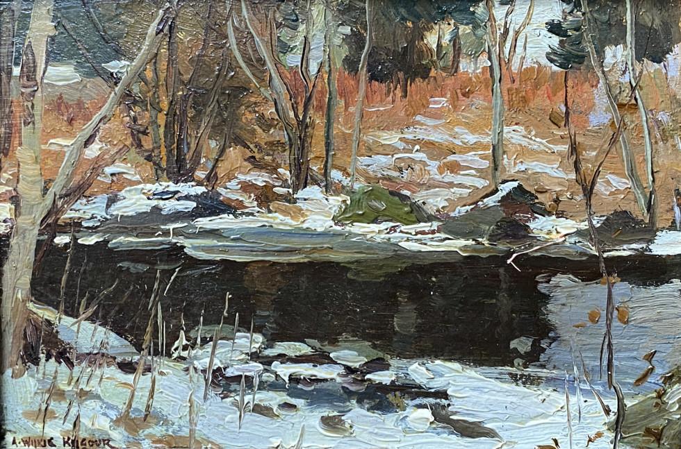 A. Wilkie Kilgour, The Fishing Pool, Montfort, P.Q., 1927