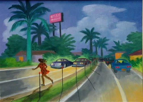 Philip Surrey, C.M., LL.D., R.C.A. 1910-1990Bill's Restaurant Miami Oil on panel 8 x 11 in 20.3 x 27.9 cm