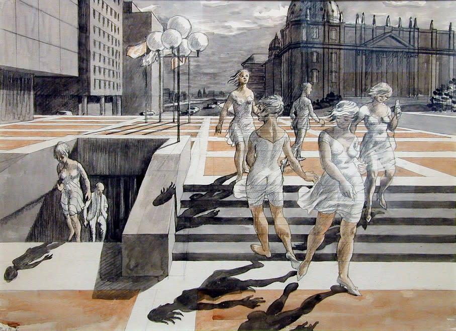 Philip Surrey, C.M., LL.D., R.C.A. 1910-1990Study for Place Ville-Marie - Étude pir Place Ville-Marie 21 1/2 x 29 1/2 in 54.6 x 74.9 cm