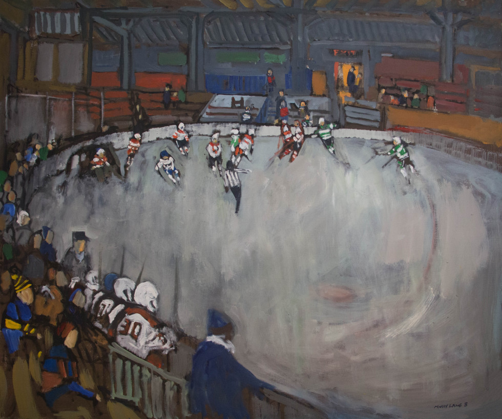 Molly Lamb Bobak, C.M., O.N.B., R.C.A. 1920-2014Old timers, Gagetown Signed Oil on canvas - Huile sur toile 36 x 38 Width: 38 Height: 36