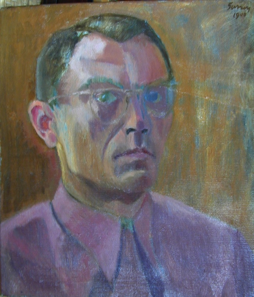 Philip Surrey, C.M., LL.D., R.C.A. 1910-1990Self-Portrait, 1940 Oil on canvas 20 x 16 in 50.8 x 40.6 cm