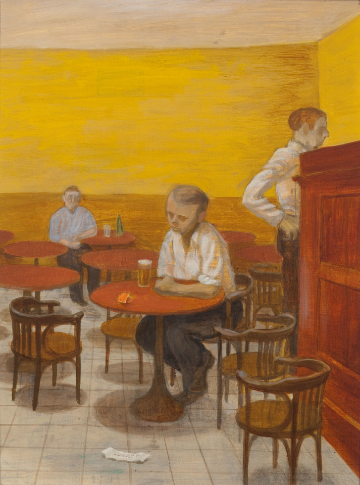 Philip Surrey, C.M., LL.D., R.C.A. 1910-1990Terrapin Tavern Oil on masonite - Huile sur isorel 16 x 12 in 40.6 x 30.5 cm