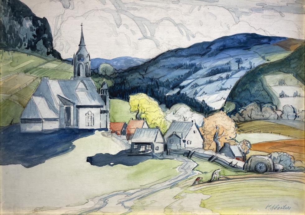 Marc-Aurèle Fortin, St-Sauveur, le village