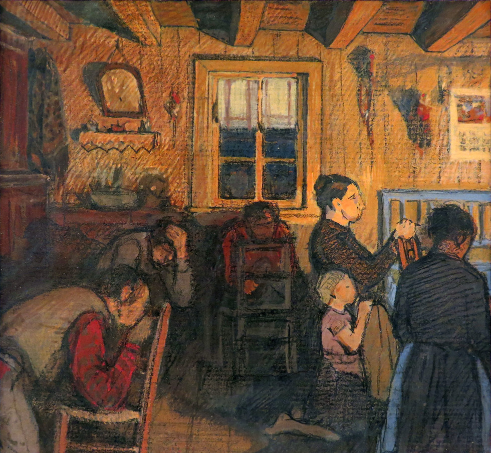 Clarence A. Gagnon, Study for Maria Chapdelaine p. 42 - Étude pour Maria Chapdelaine p. 42, 1930 (circa)