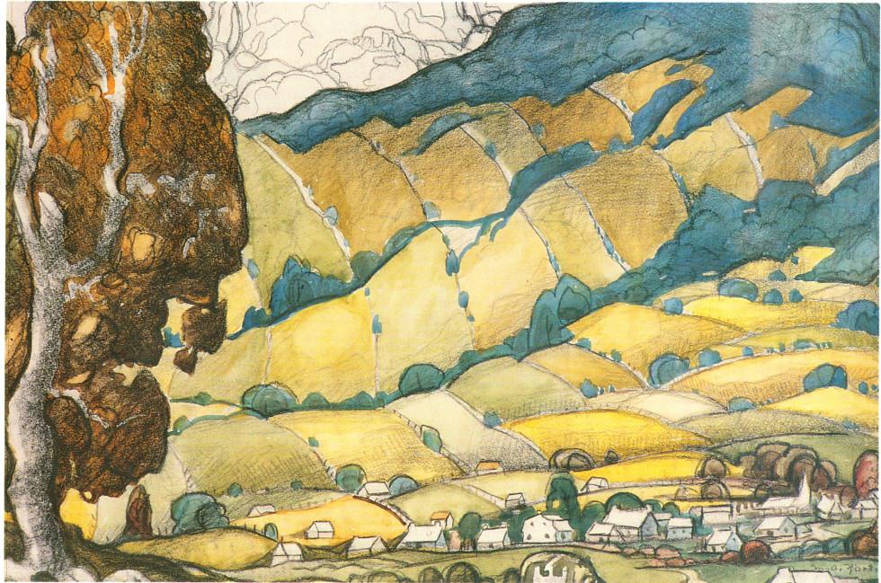 "Marc-Aurèle Fortin, A.R.C.A., Au pied des Appalaches Watercolour  22"" x 30"""