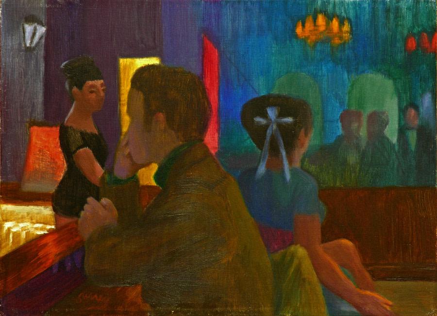 Philip Surrey, C.M., LL.D., R.C.A. 1910-1990Danny's Villa - La Villa de Danny's, 1970 Oil on panel - Huile sur panneau 8 x 11 in 20.3 x 27.9 cm