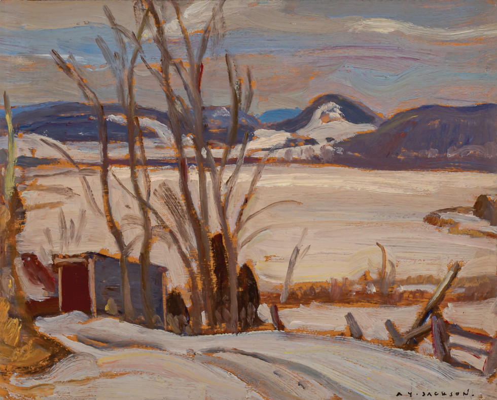 A.Y. Jackson, Cabin by the Lake, 1935 (circa)