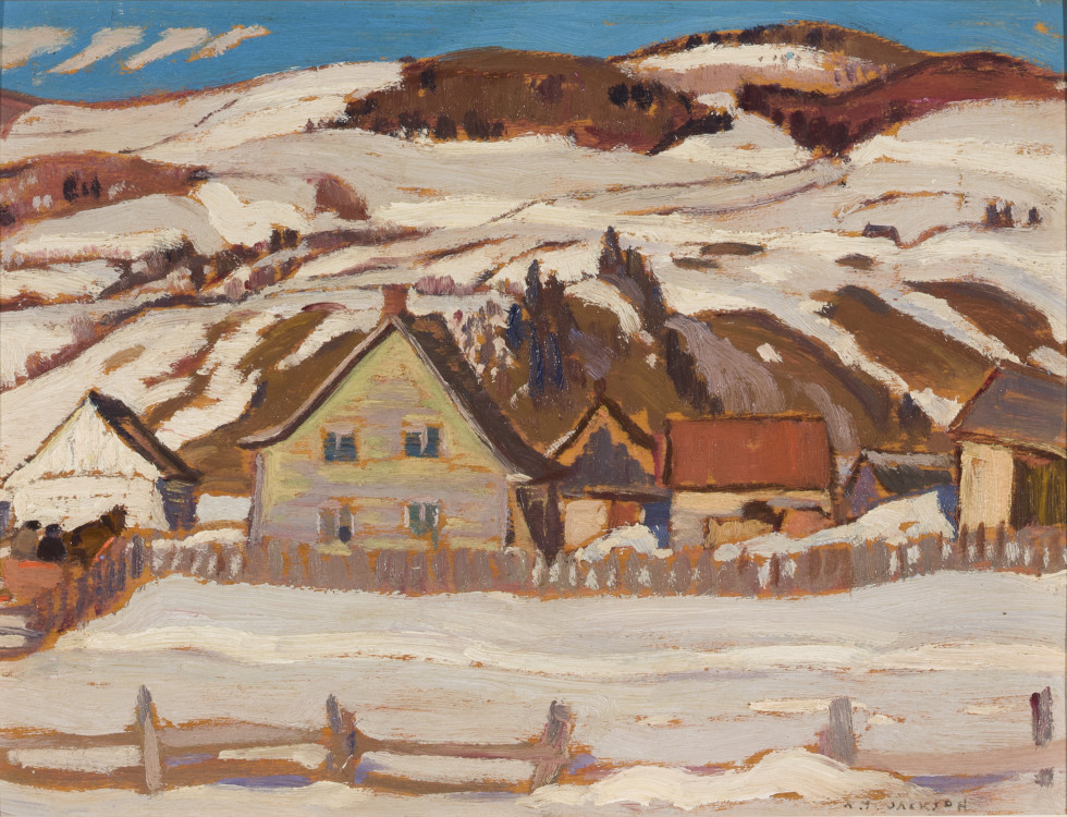 A.Y. Jackson, Farm, St-Lawrence, North Shore, 1929 (April)