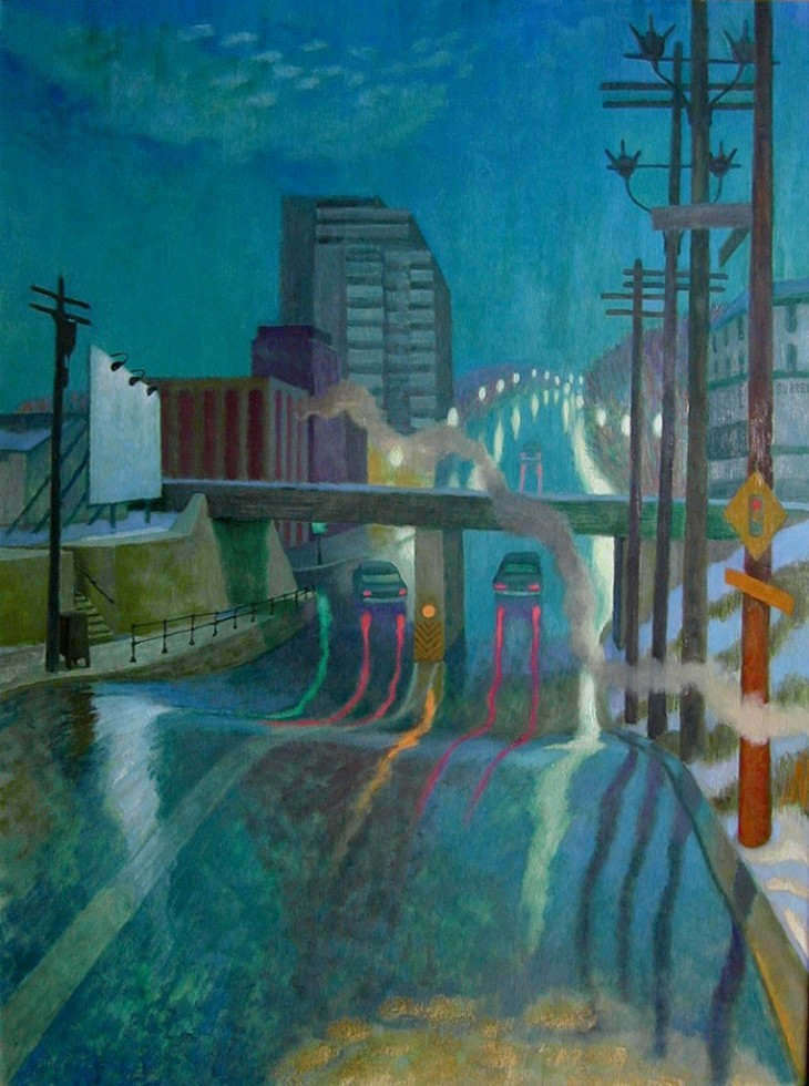 Philip Surrey, C.M., LL.D., R.C.A. (1910-1990)Decarie, Montreal, 1969 Oil 48 x 36