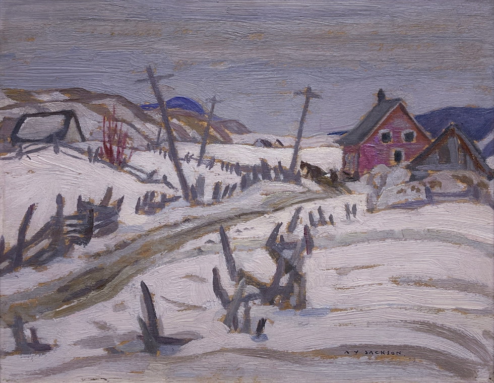 A.Y. Jackson, St-Urbain, Quebec , 1929 (April)