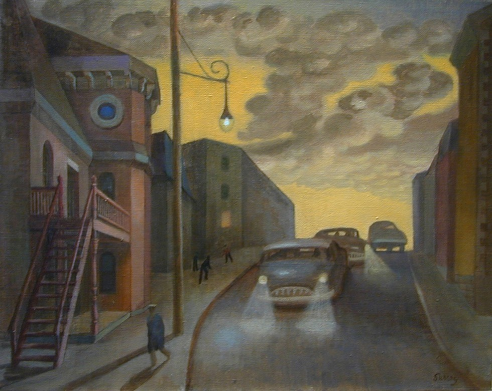 Philip Surrey, C.M., LL.D., R.C.A. 1910-1990Street Scene, St. Henri - Rue à St-Henri, 1955 (circa) Oil on canvas 16 x 20 in 40.6 x 50.8 cm