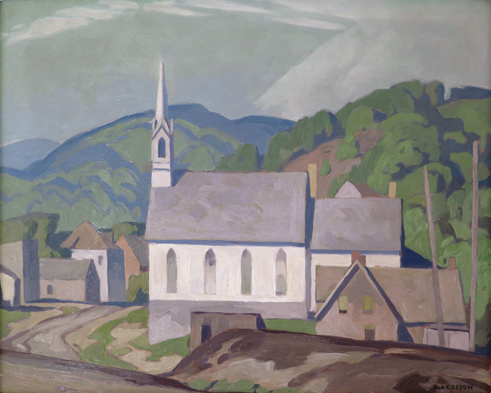 A.J. Casson, The Village Church (at Barry's Bay), 1955 (circa)