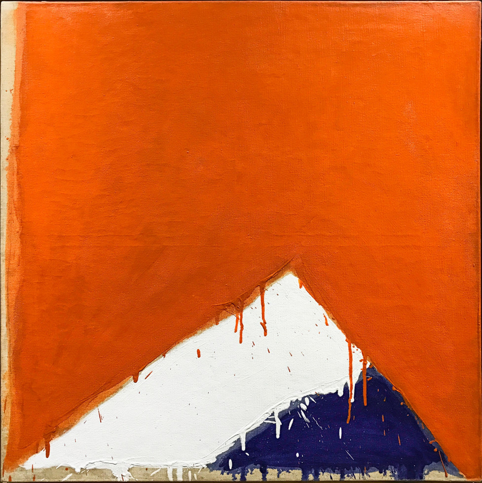 Serge Lemoyne Bleu, blanc, rouge - Blue, white, red, 1976 Circa Oil on canvas - Huile sur toile 30 x 30 Width: 30 Height: 30
