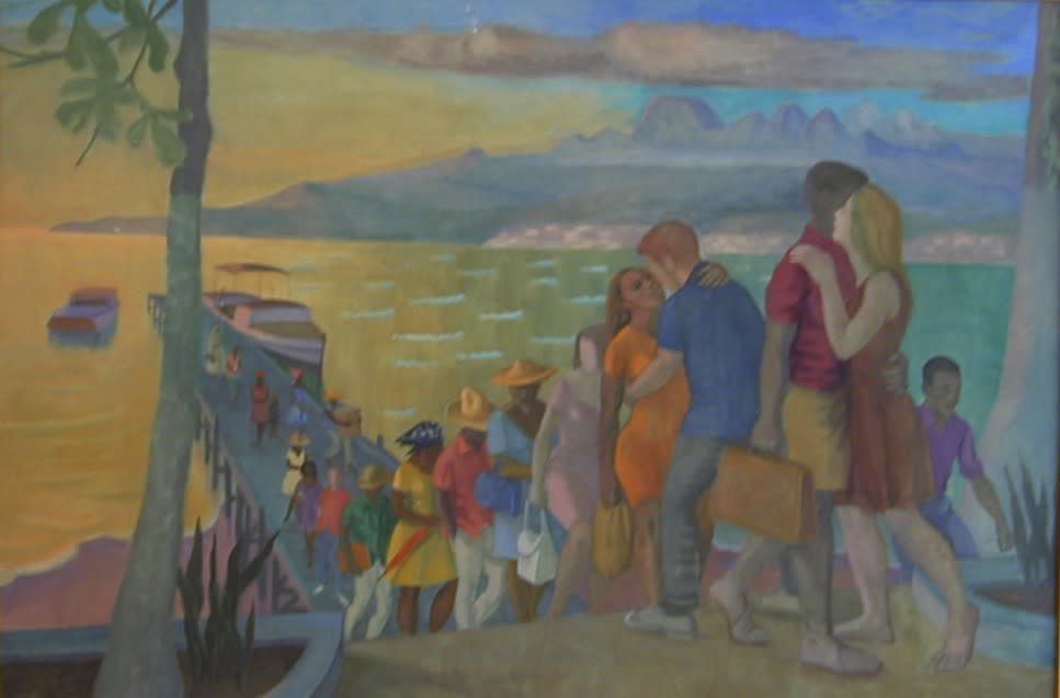 Philip Surrey, C.M., LL.D., R.C.A. 1910-1990Anse Mitan, Martinique, 1964 Oil on canvas 32 x 48 in 81.3 x 121.9 cm