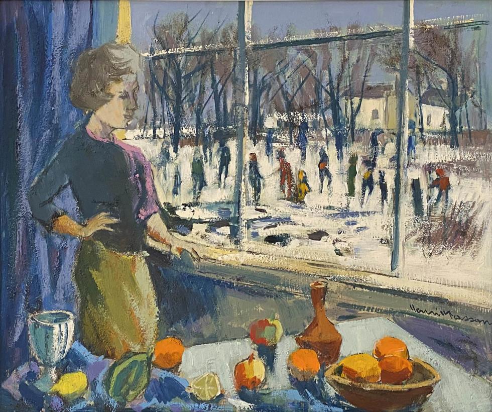 Henri L. Masson, Studio Window, 1970