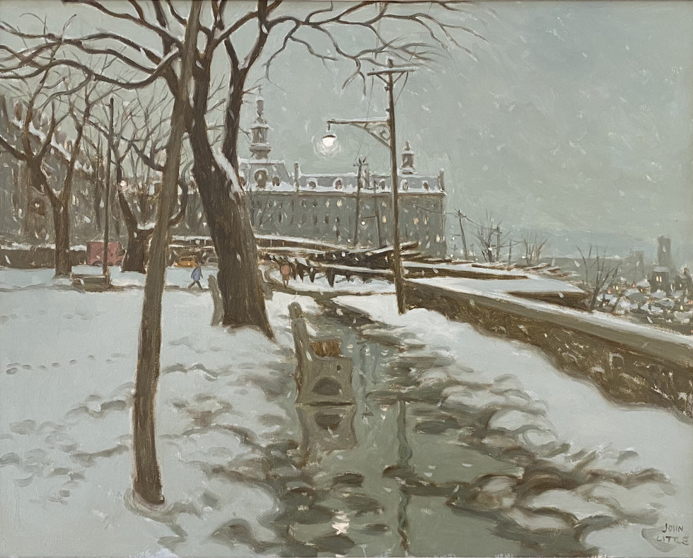 John Little, Parc Montmorency, Québec (with a view of the Seminaire), 1966