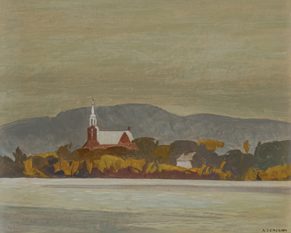 A.J. Casson, Church at Grenville (Quebec), 1971