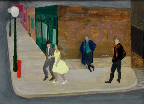 Philip Surrey, C.M., LL.D., R.C.A. 1910-1990City Spring - En ville au printemps, 1952 Oil on masonite 6 x 8 in 15.2 x 20.3 cm