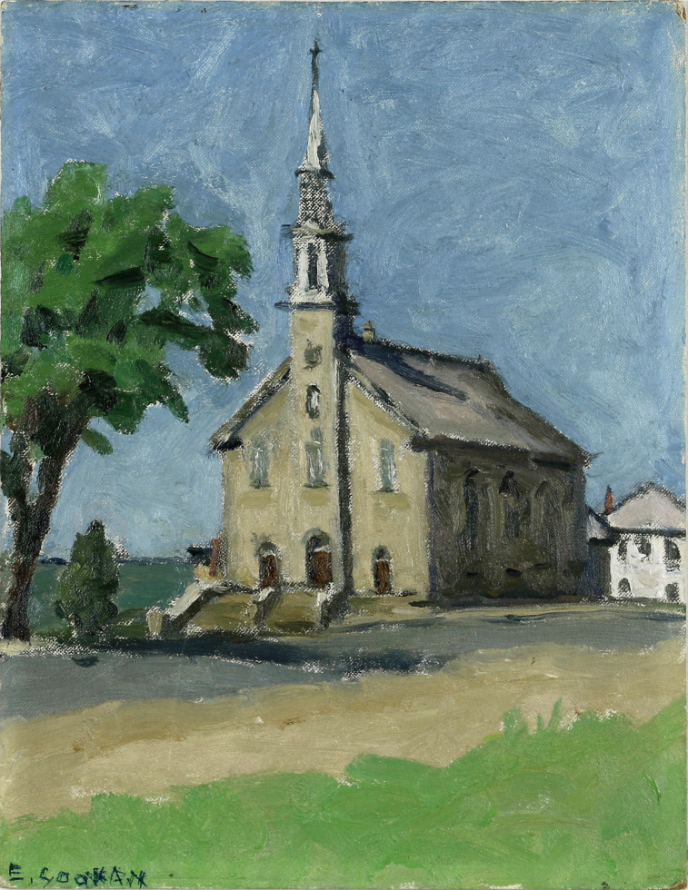 Emily Coonan, Church at Notre-Dame-du-Portage (Near Cacouna)