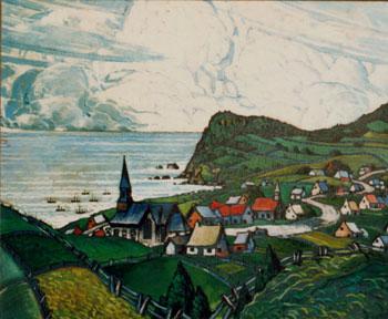 Marc-Aurèle Fortin, A.R.C.A., L'Anse-aux-Gascons Oil on canvas  38 x 46 in 96.5 x 116.8 cm