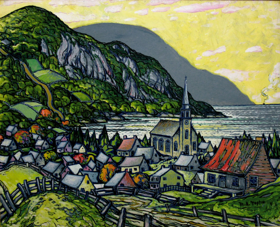 Marc-Aurèle Fortin, A.R.C.A. 1888-1970Vue de Saint-Siméon Oil on masonite 39 x 48 in 99.1 x 121.9 cm