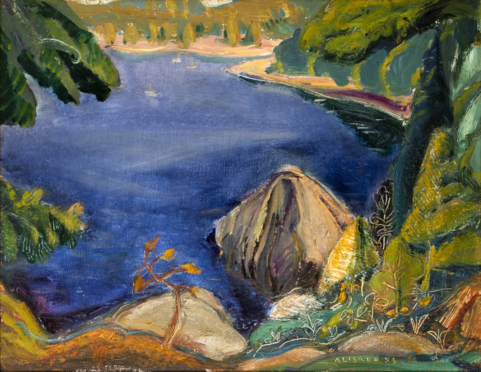 Arthur Lismer, C.C., LL.D., R.C.A., O.S.A., On Pender Island, East Coast of Vancouver Island, BC, 1953
