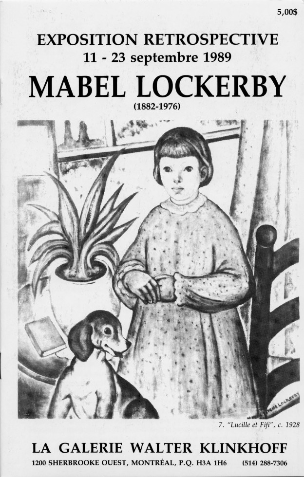 Mabel Lockerby (1882-1976) Retrospective Exhibition, 1989