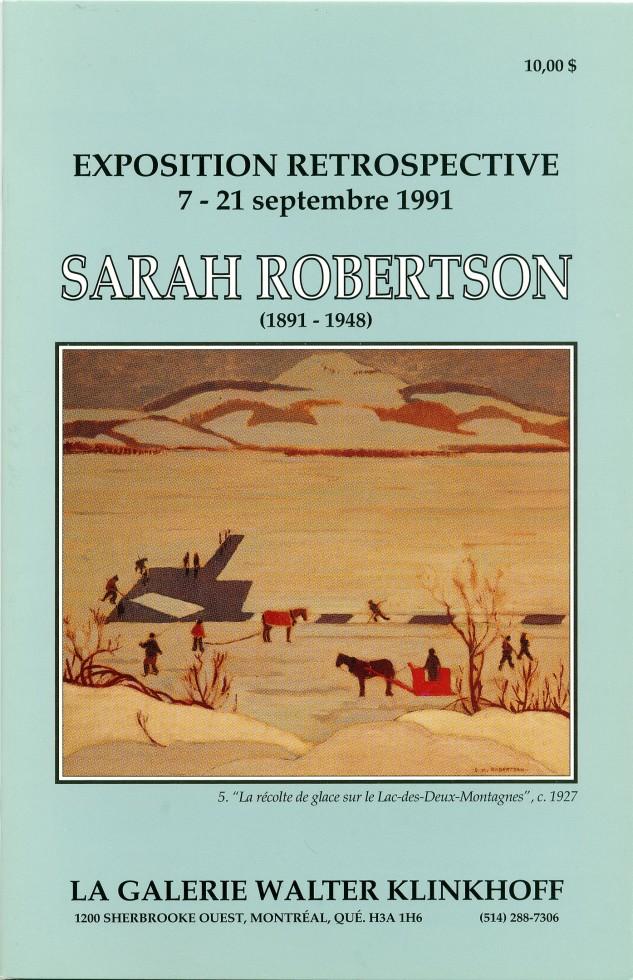 Sarah Robertson (1891-1948) Exposition Retrospective
