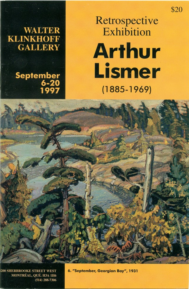 Arthur Lismer (1885-1969) Retrospective Exhibition
