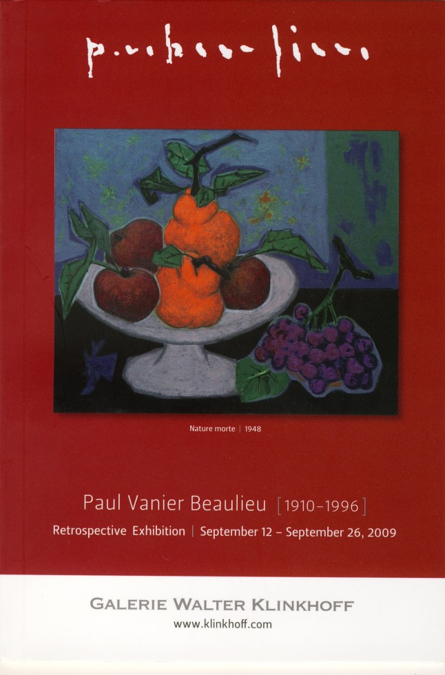Paul Vanier Beaulieu (1910-1996) Retrospective Exhibition